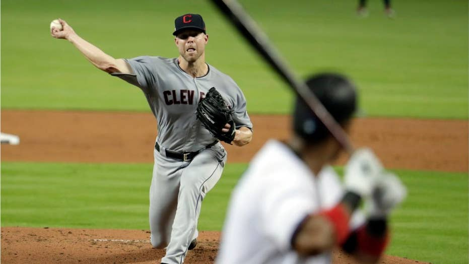Cleveland Indians pitcher's arm broken after hit by line drive