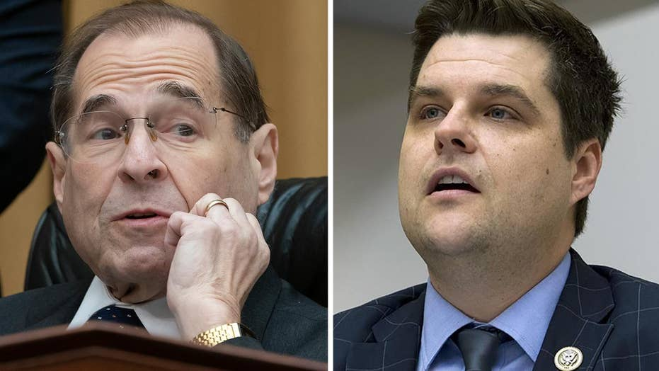 Rep. Gaetz's mic cut off as House hearing gets heated over the absence of Attorney General Barr