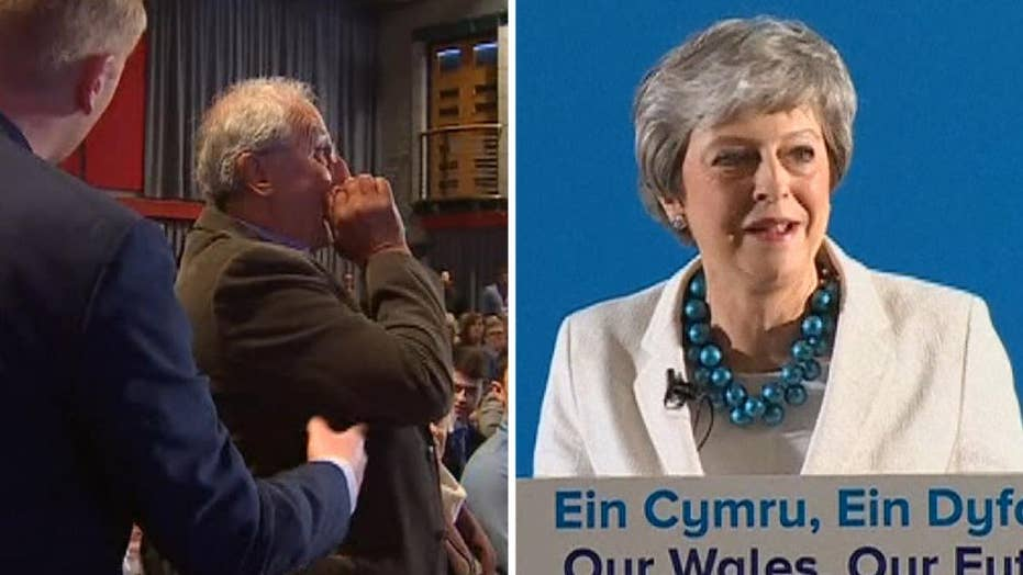 'We don't wish you': Man heckles British Prime Minister Theresa May during debate in Wales