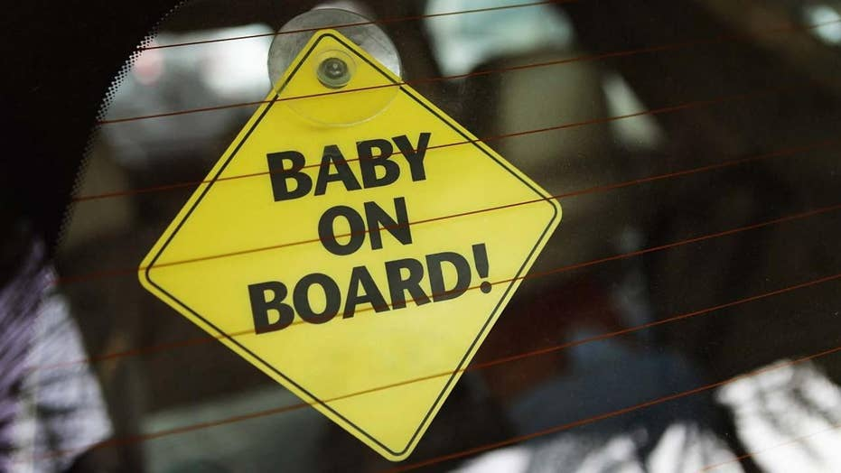 It's the 35th birthday of the ubiquitous 'Baby on Board' decal