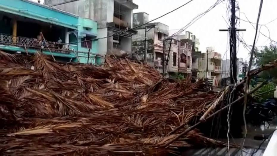 At least seven dead after cyclone strikes India