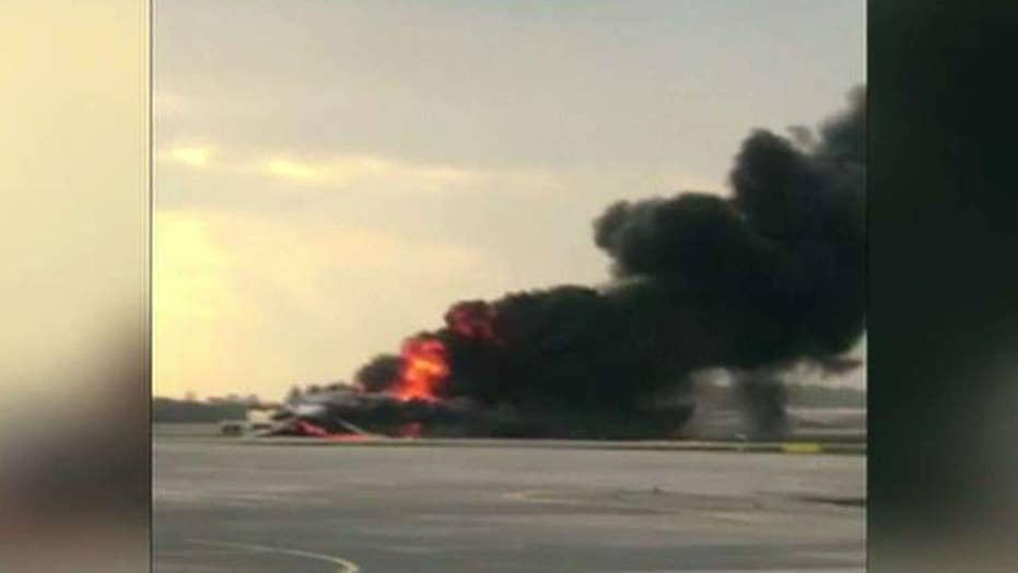 41 confirmed dead after burning plane makes emergency landing in Moscow