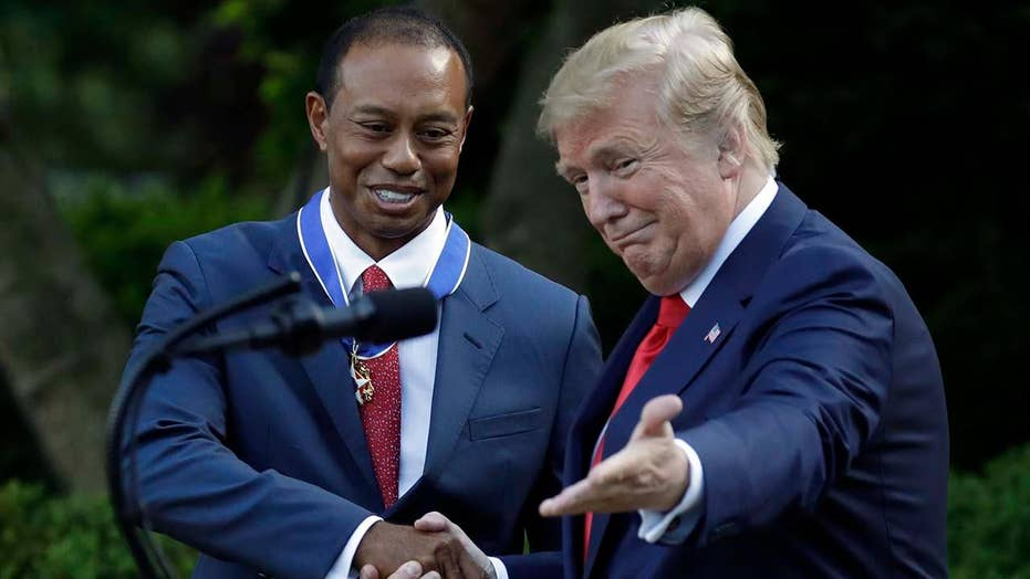 Tiger Woods receives Presidential Medal of Freedom
