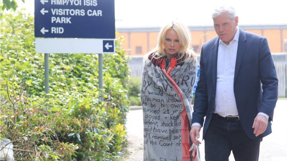 Actress Pamela Anderson pays visit to Julian Assange in prison