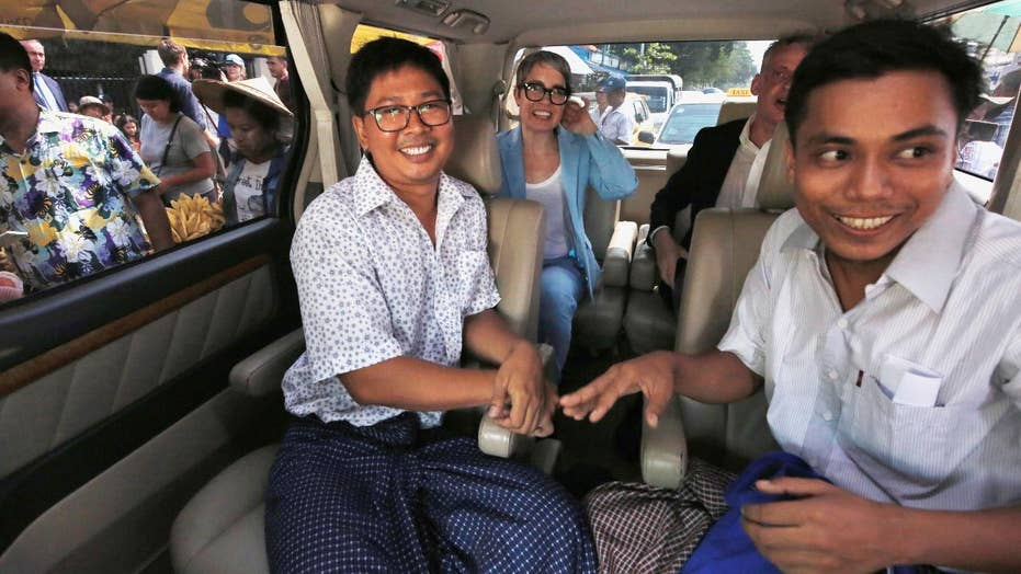 Reuters journalists released from prison in Myanmar after more than 500 days behind bars