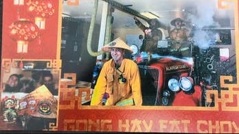 Lunar New Year holiday card land California firefighters in hot water