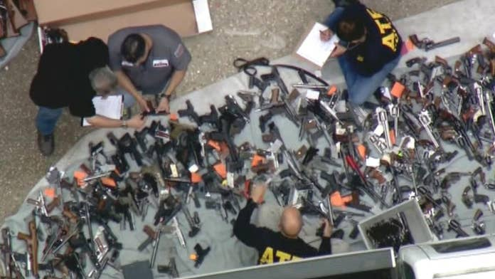 Licensed gun owner out on bond after arrest following LA weapons seizure; linked to former Getty companion:...