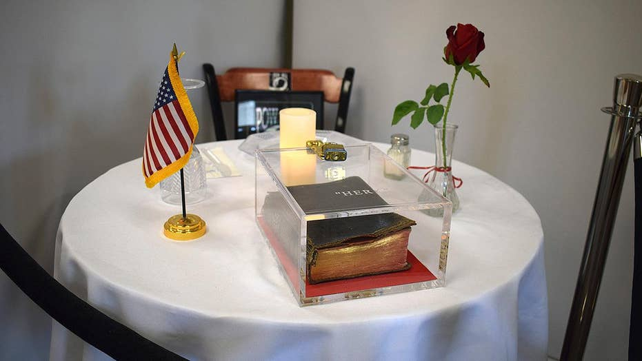 Atheist group sues New Hampshire VA hospital over Bible display at POW/MIA memorial table