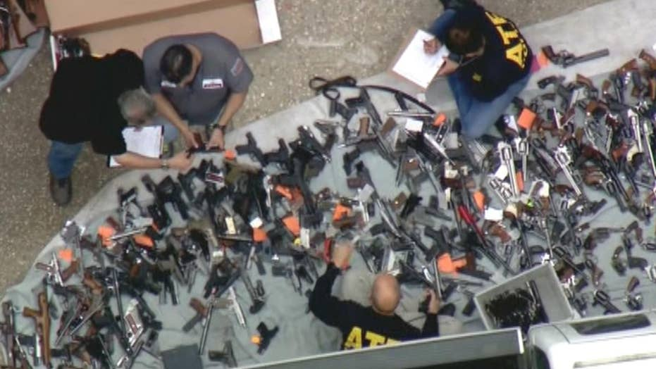More than 1,000 weapons seized from Los Angeles mansion