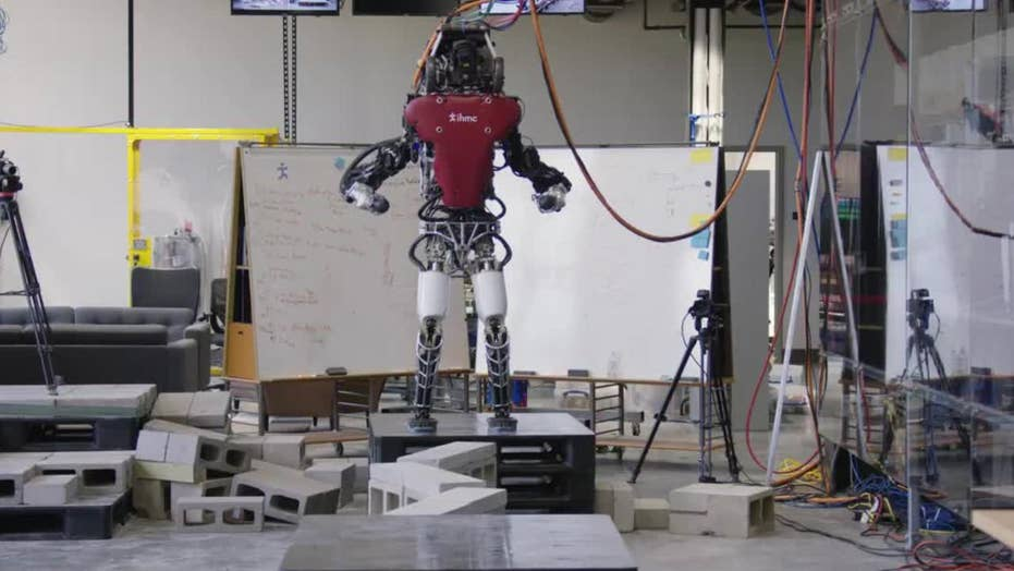 Researchers unveil video of robot taking human-like steps