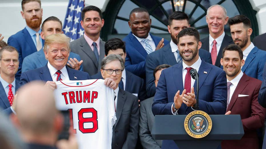 President Trump welcomes the Boston Red Sox to the White House