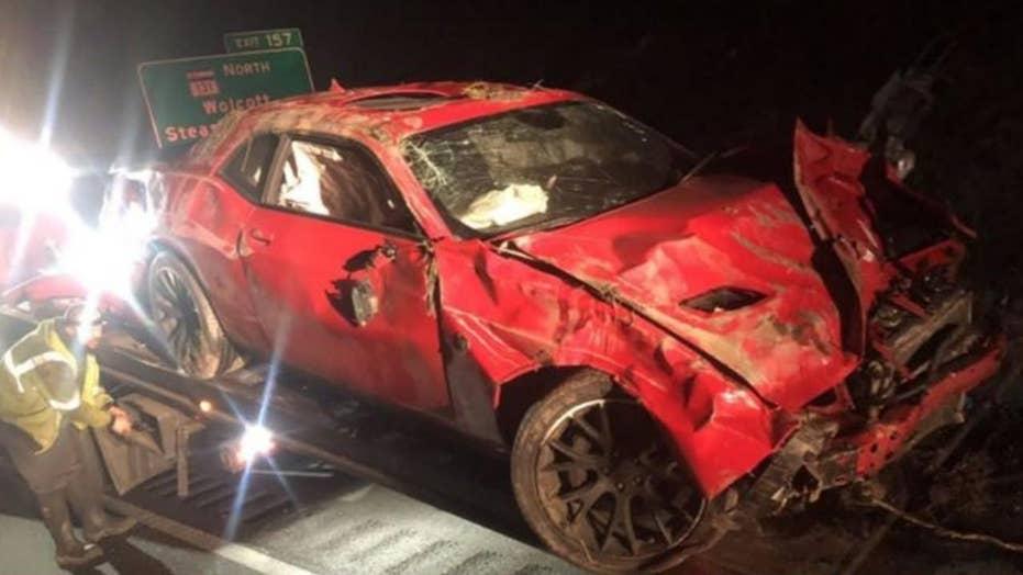 Speedster wrecks car in police high speed chase