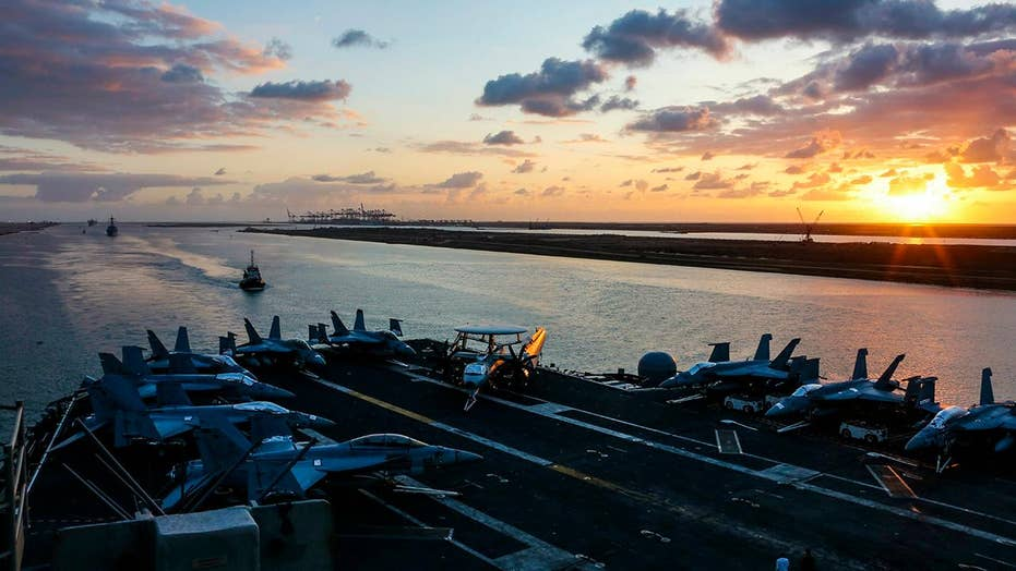 US Navy fleet sent to Middle East to ward off threats