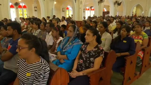 Catholics in Sri Lanka attend Sunday mass three weeks after Easter service bombings