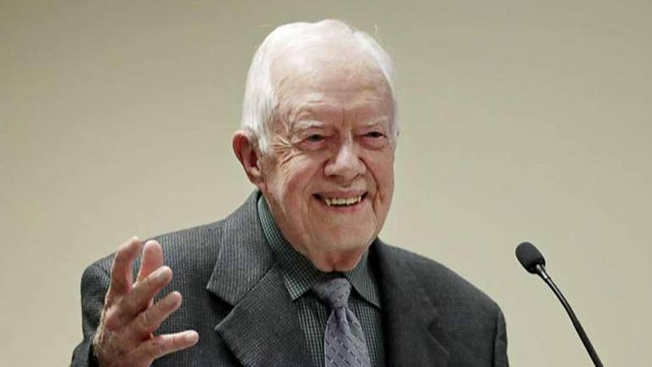 Former President Jimmy Carter recovering from hip replacement surgery after fall