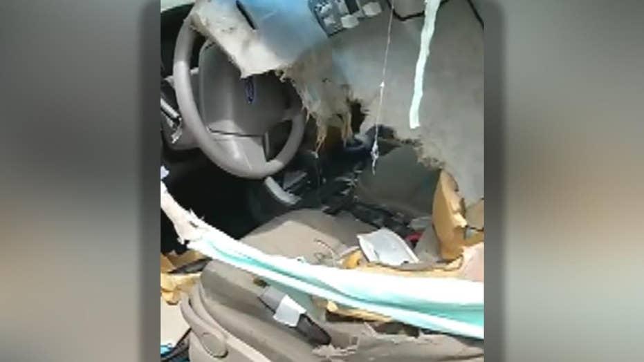 Bear tears apart the inside of a car in Colorado