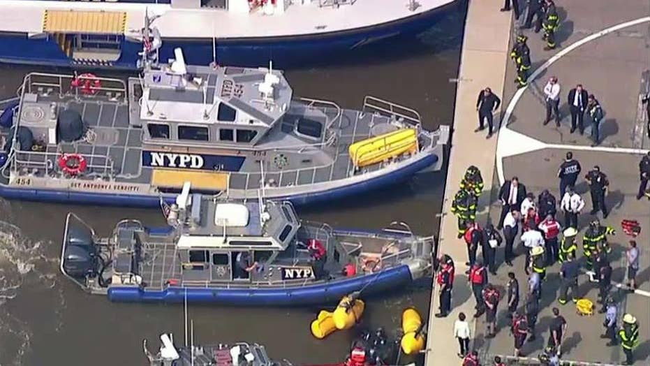 NYPD confirms helicopter crash in Hudson River