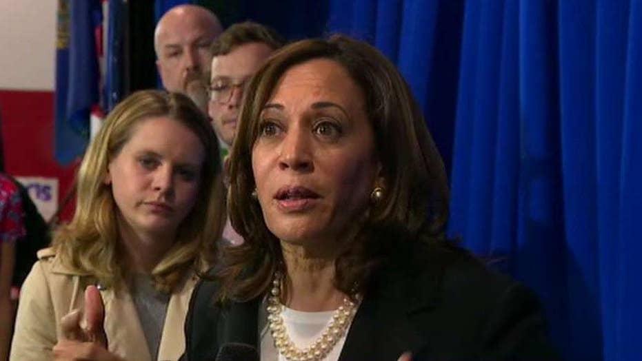 Sen. Kamala Harris insists she's not running to be Joe Biden's running mate