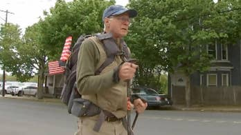 71-year-old Air Force vet begins 3,000 mile trek to raise awareness for veterans' needs