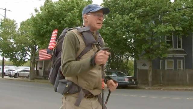 72-year-old Air Force vet begins 3,000 mile trek to raise awareness for veterans' needs
