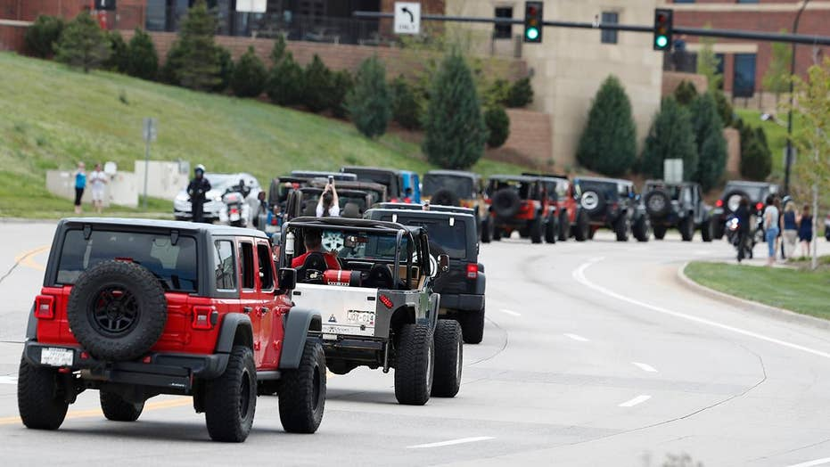 Procession of Jeeps honors hero student