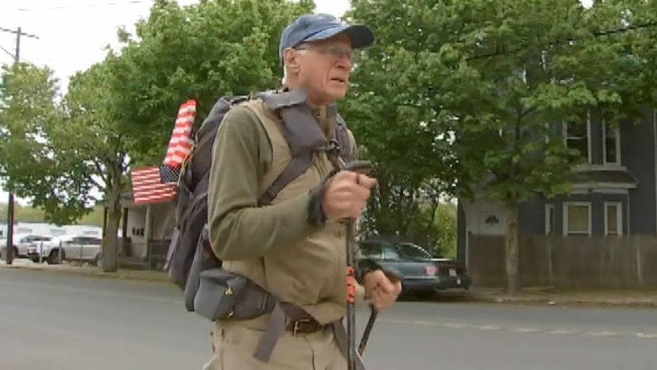 72-year-old Air Force vet begins 3,000 mile trek to raise awareness for veterans' needs