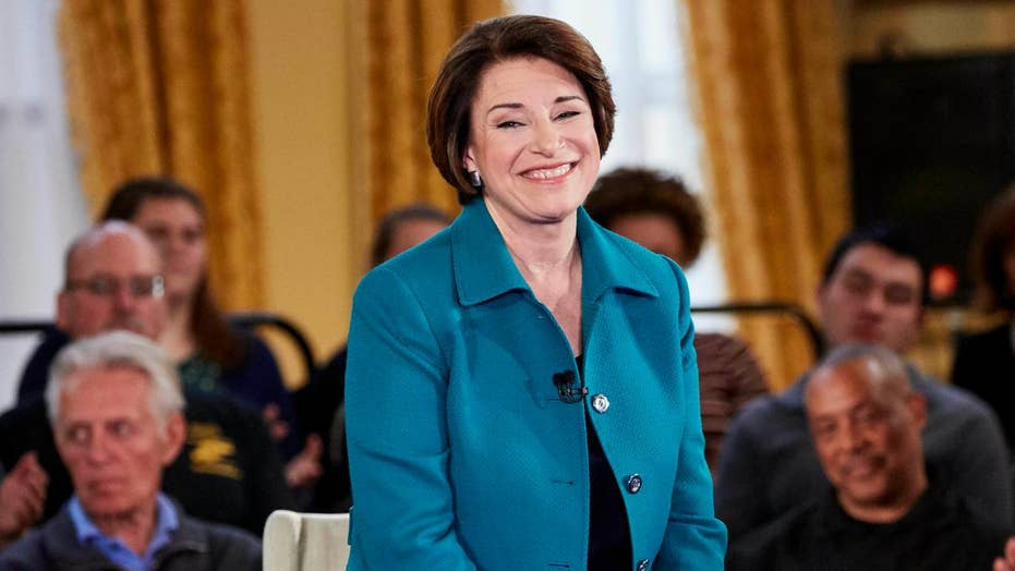 2020 Democratic hopeful Amy Klobuchar struggles to answer questions on late-term abortions