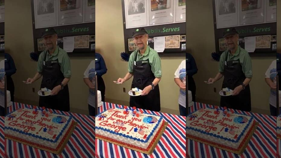 Veteran, 87, honored at his Publix job