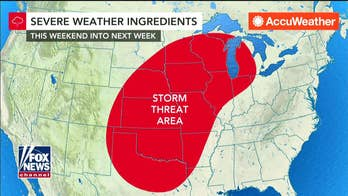 Severe weather and tornadoes threaten the central plains
