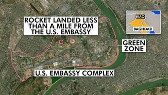 US-Iran tensions build as rocket lands near US embassy in Baghdad