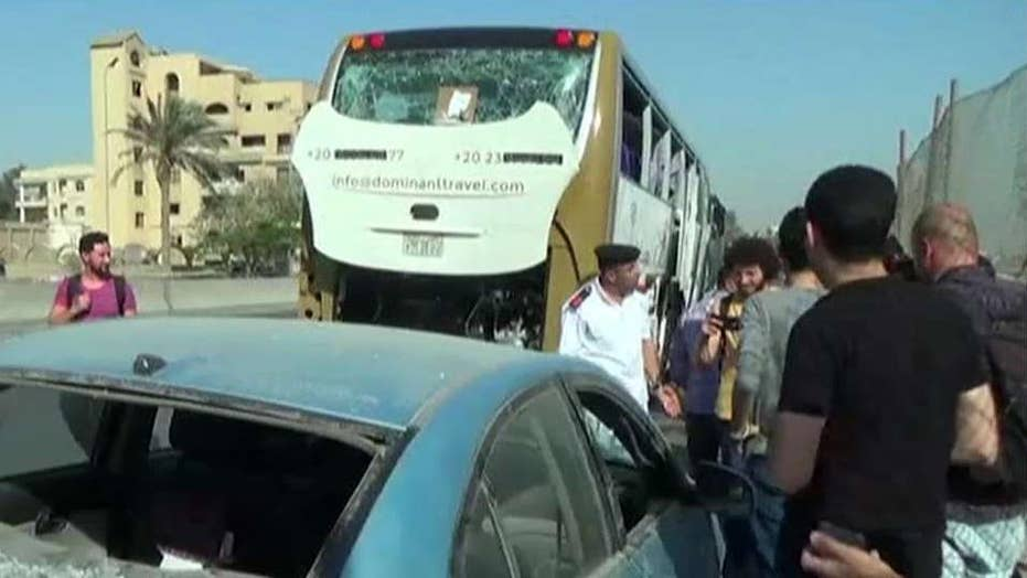 Egypt says 12 militants were killed after tour bus attack near the Giza Pyramids