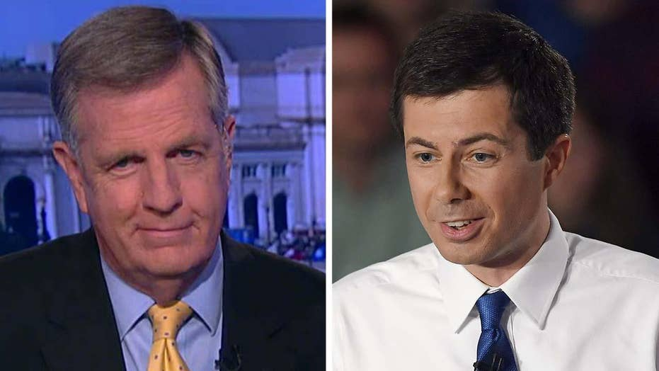 Image result for brit hume and buttigieg