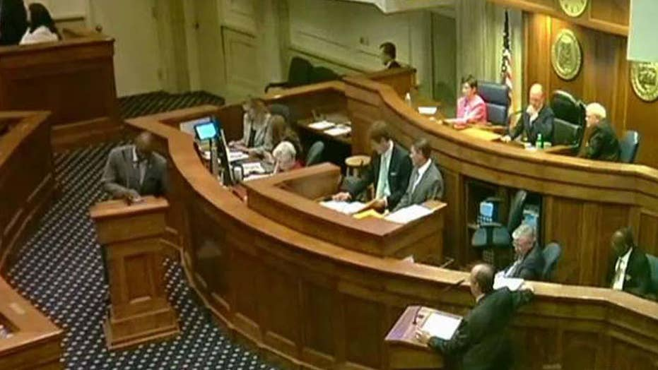 Heated discuss on Alabama Senate building sparked by termination bill