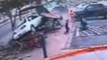 Driver slams into Dairy Queen picnic area, injuring Colorado family