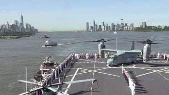 Fleet Week kicks off in New York City with parade of ships sailing up Hudson River