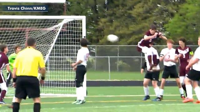 Soccer player scores incredible 'butt goal'