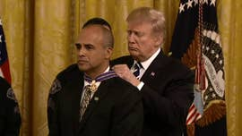 Trump awards highest honor for bravery to public safety officers