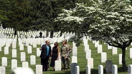 Trump pays respect to military dead at Arlington ahead of Memorial Day