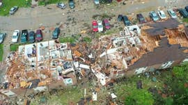 Drone footage shows devastation after tornado sweeps through Missouri