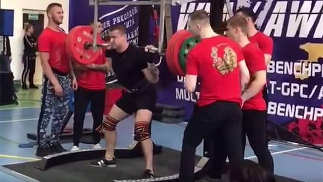 Russian weightlifter suffers gruesome injury trying to squat more than 500 pounds