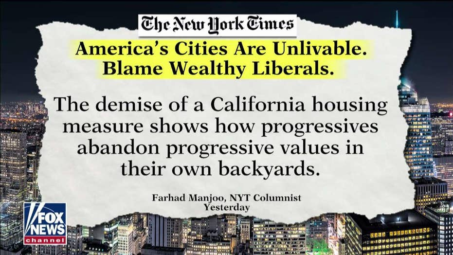 New York Times op-ed calls out 'unlivable' conditions in Democratic-led cities
