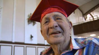 Sent to war before graduation, World War II veteran finally attends commencement