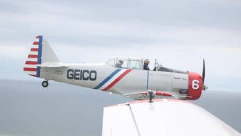 Geico Skytypers pay tribute to American troops with Statue of Liberty fly-by