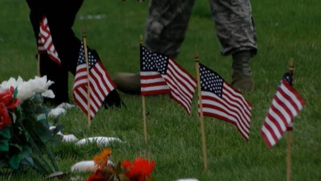 Flags honor American heroes at Air Force Academy cemetery