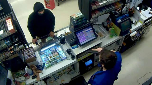 Convenience store clerk draws gun, calls 911 on would-be hatchet wielding thief