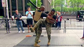 Marines show off the martial arts moves they use to train for combat