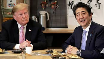 President Trump talks North Korean missile tests with Japanese Prime Minister Shinzo Abe
