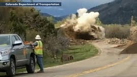 Boulder that destroyed Colorado highway blasted apart by construction crew