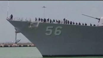 President Trump denies asking Navy to move USS John McCain