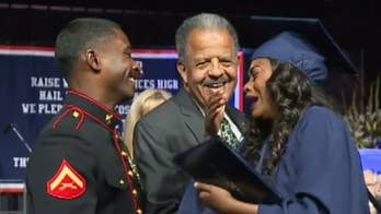 California teen's Marine brother surprises her on stage at graduation